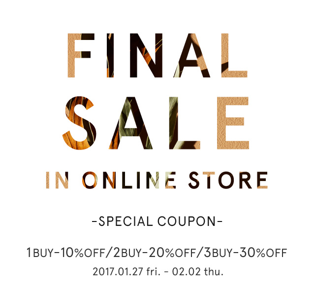 FINAL SALE IN ONLINE STORE